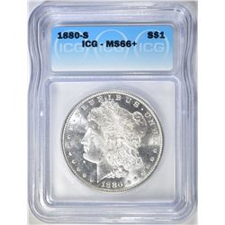 1880-S MORGAN DOLLAR  ICG MS-66+