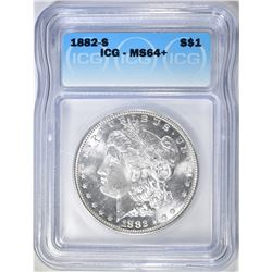 1882-S MORGAN DOLLAR  ICG MS-64+