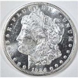 1884-CC MORGAN DOLLAR  GEM BU DMPL