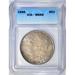 1898 MORGAN DOLLAR  ICG MS-66