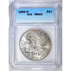 1899-O MORGAN DOLLAR   ICG MS-65