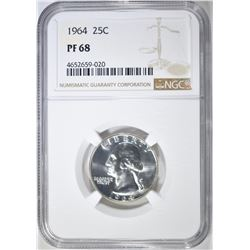 1964  NGC PF68 WASHINGTON QUARTER