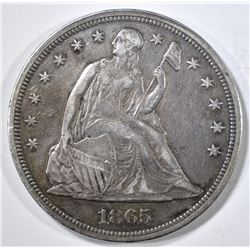 1865 SEATED LIBERTY DOLLAR  XF