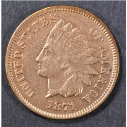 1871 INDIAN CENT  XF/AU