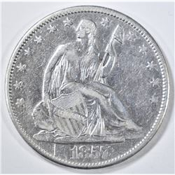 1857-O SEATED LIBERTY HALF DOLLAR  XF