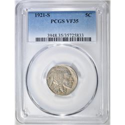 1921-S BUFFALO NICKEL PCGS VF-35