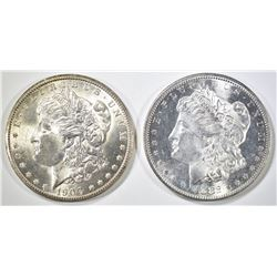 1882-S & 1900-O MORGAN DOLLARS CH BU