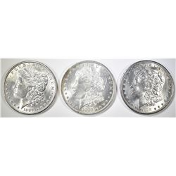 1885-O, 89, 98-O MORGAN DOLLARS CH BU