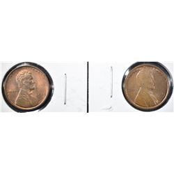 (2) 1909 BU LINCOLN CENTS