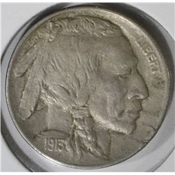 1913-D TYPE-1 BUFFALO NICKEL, AU