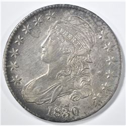 1830 BUST HALF DOLLAR CH AU