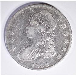 1836 BUST HALF DOLLAR, VF