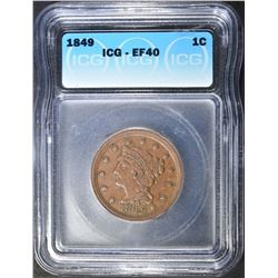 1849 LARGE CENT ICG EF-40