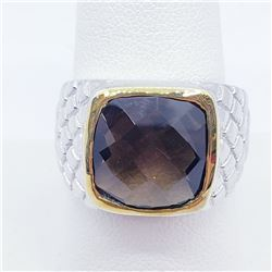 MEN'S SMOKEY TOPAZ RING SIZE 8