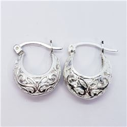 SILVER SMALL HOOPP EARRINGS