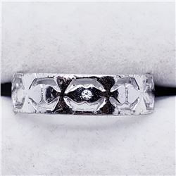 SILVER CZ RING SIZE 8.5