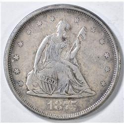 1875-S 20 CENT XF/AU