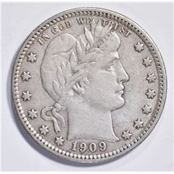 1909-D BARBER QUARTER, XF
