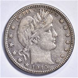 1915-D BARBER QUARTER, XF/AU