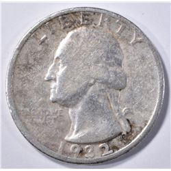 1932-D WASHINGTON QUARTER, VF