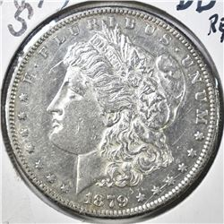 1879-S REV 79 MORGAN DOLLAR, BU cleaned