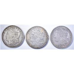 AVE CIRC 1921-P-D-S MORGAM DOLLARS