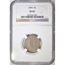 1895 LIBERTY NICKEL, NGC XF-45
