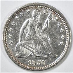 1857-O SEATED LIBERTY HALF DIME CH AU