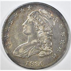 1836 BUST HALF DOLLAR AU NICE COLOR