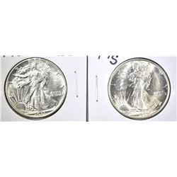 1943 & 45-S WALKING LIBERTY HALF DOLLARS: