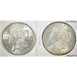 1880 & 1885 MORGAN DOLLARS CH BU