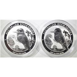 2-2019 AUSTRALIA 1oz KOOKABURRA COINS