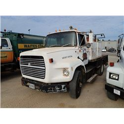 1988 FORD FUEL & LUBE TRUCK, VIN/SN:1FTYS90LXJVA38724 - S/A, CUMMINS DIESEL ENGINE, 10 SPEED TRANS,