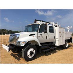 2006 INTERNATIONAL 7300 MECHANICS TRUCK, VIN/SN:1HTWAAAN16J220521 - S/A, CREW CAB, IHC DT466 ENGINE,