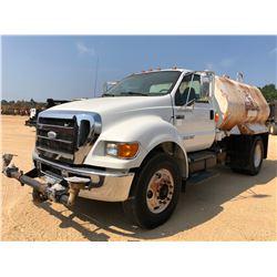 2008 FORD F750 WATER TRUCK, VIN/SN:3FRNF75B58B575580 - S/A, CUMMINS DIESEL ENGINE, 6 SPEED TRANS, KA