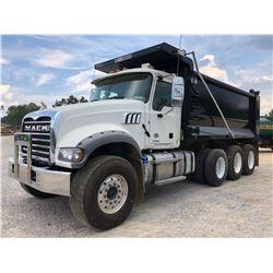2019 MACK GR64F DUMP TRUCK, VIN/SN:1M2GR4GC9KM003126 - TRI AXLE, 455 HP MACK MP8 ENGINE, MACK M-DRIV