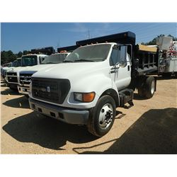 2002 FORD F650 DUMP TRUCK, VIN/SN:3FDWF65H92MA27655 - S/A, DIESEL ENGINE, 5 SPEED TRANS, 10' GODWIN
