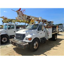 2000 FORD F750 DIGGER DERRICK, VIN/SN:3FDXF75H6YMA03297 - S/A, CAT DIESEL ENGINE, 7 SPEED TRANS, GVW
