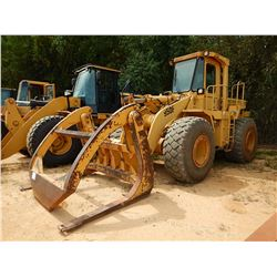 CAT 950F WHEEL LOADER, VIN/SN:7ZF00923 - WICKER FORKS W/TOP CLAMP, AUX HYD, CAB, AC, 23.5R-25 TIRES,