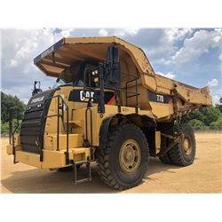 2011 CAT 770 OFF HIGHWAY ROCK TRUCK, VIN/SN:BZZ00711 - TAILGATE, ENGINE RETARDER, EMERGENCY STEERING