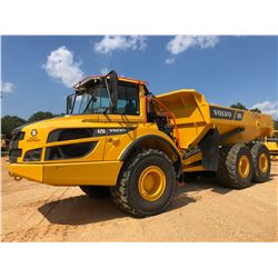 2018 VOLVO A25G ARTICULATED DUMP, VIN/SN:742091 - CAB, AC, 750/65R25 TIRES, METER READING 1,668 HOUR