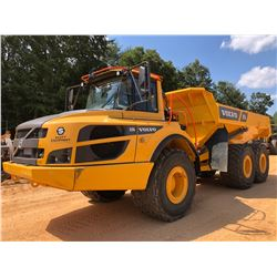 2017 VOLVO A25G ARTICULATED DUMP, VIN/SN:740407 - CAB, A/C, 750/65R25 TIRES, METER READING 2,512 HOU