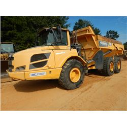 2013 VOLVO A25F ARTICULATED DUMP, VIN/SN:80122 - TAILGATE, CAB, AC, 23.5R25 TIRES, METER READING 7,6