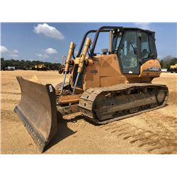 2008 CASE 1650L XLT CRAWLER TRACTOR, VIN/SN:N8DC16016 - 6 WAY BLADE, CAB, A/C, SWEEPS, METER READING