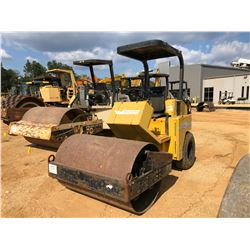 """STONE RHINO 8054 ROLLER, VIN/SN:300090 - VIBRATORY, 54"""" SMOOTH DRUM, CANOPY, METER READING 780 HOURS"""