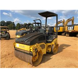 """2006 BOMAG BW120 AD ROLLER, VIN/SN:101880022521 - TANDEM, 47"""" DRUMS, VIBRATORY, CANOPY, METER READIN"""