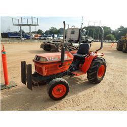 KUBOTA B2150 FARM TRACTOR, VIN/SN:B2-50D5008C - MFWD, ROLL BAR, METER READING 1,641 HOURS
