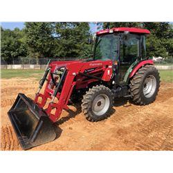 2017 MAHINDRA 2565 FARM TRACTOR, VIN/SN:65GCK01177 - MFWD, (1) REMOTE, MAHINDRA 2565CL FRONT LOADER