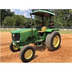 2012 JOHN DEERE 5065E FARM TRACTOR, VIN/SN:8581 - (2) REMOTES, CANOPY, METER READING 4,378 HOURS