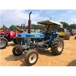 NEW HOLLAND 5610 FARM TRACTOR, VIN/SN:82853234 - (2) REMOTES, CANOPY